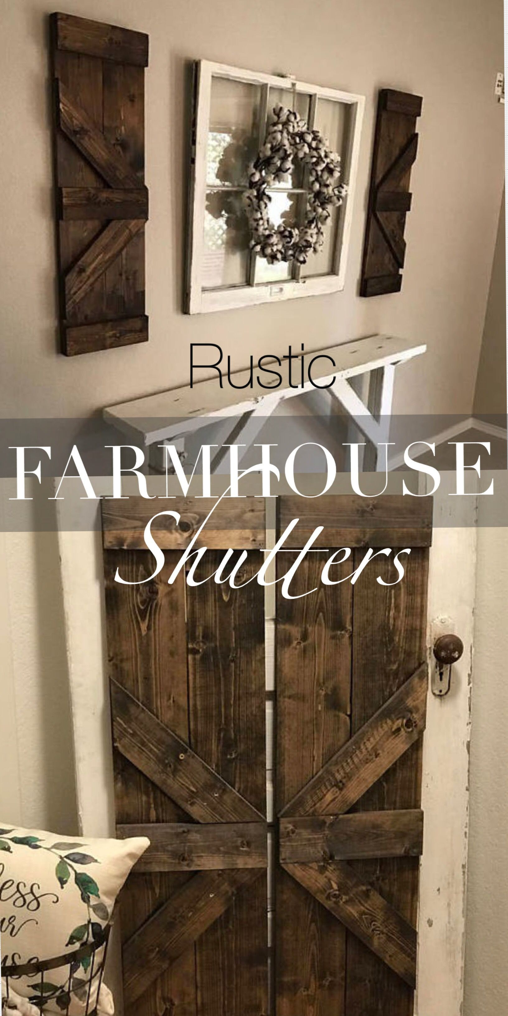 Awesome Shutter Wall Decor Ideas Rustic Shutters Decor Wall Decor