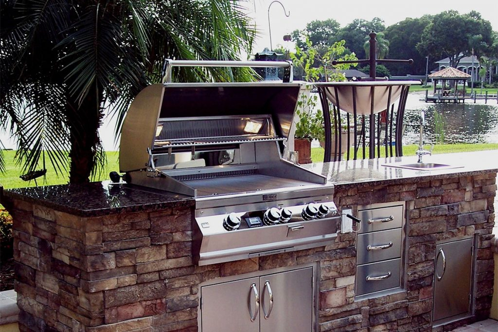 Backyard Kitchen Construction And Outdoor Grill Store Just Grillin