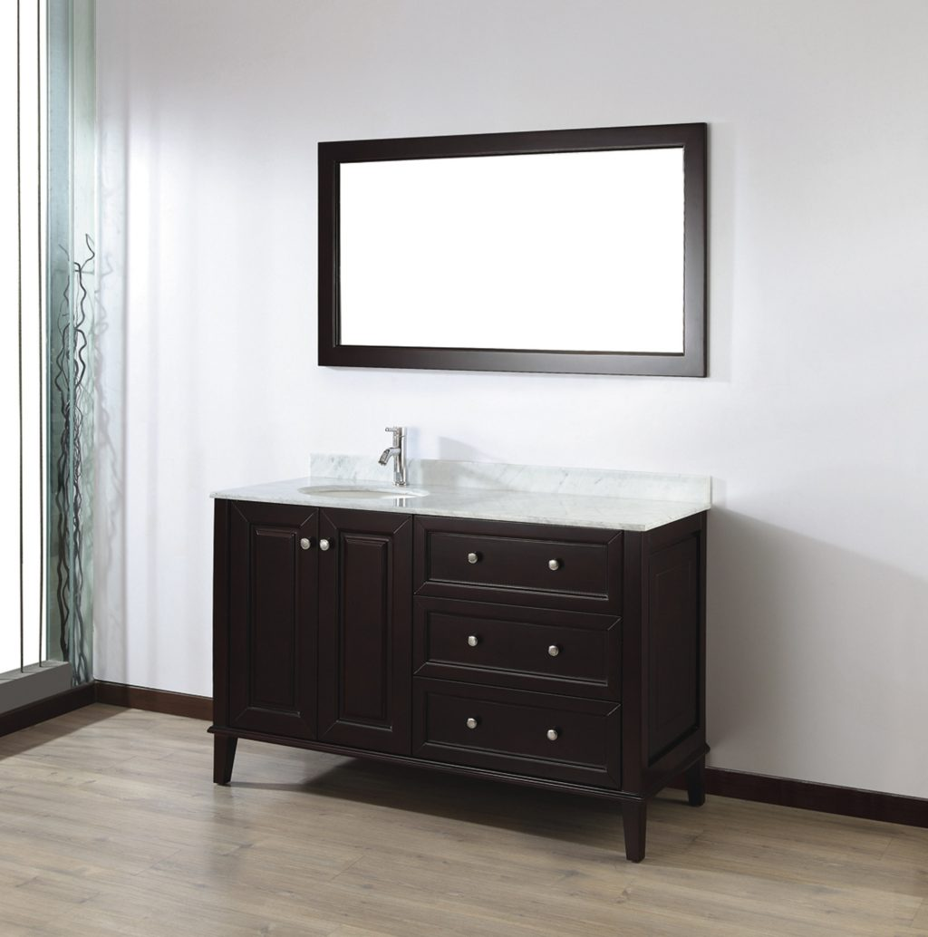 Bauhaus Bath Milly 55 Single Bathroom Vanity Set With Mirror