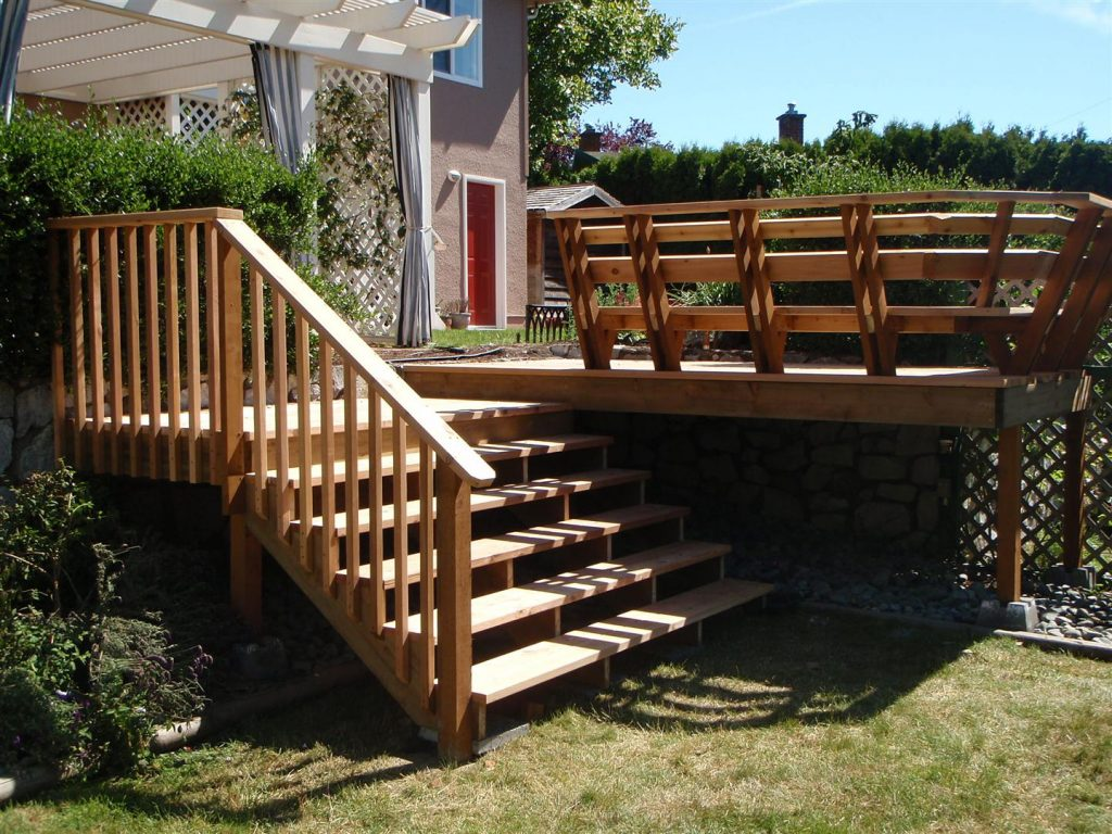 Beautiful Deck Stairs Ideas New Home Design How To Make Simple
