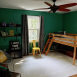 Before After My Boys Green Bedroom Makeover