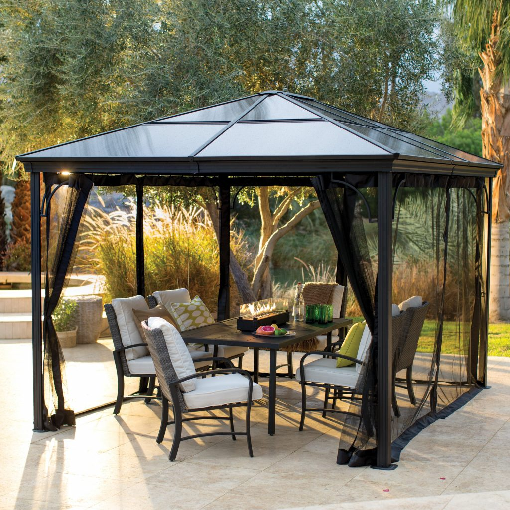 Belham Living Augusta 10 X 12 Ft Gazebo With Polycarbonate Top And