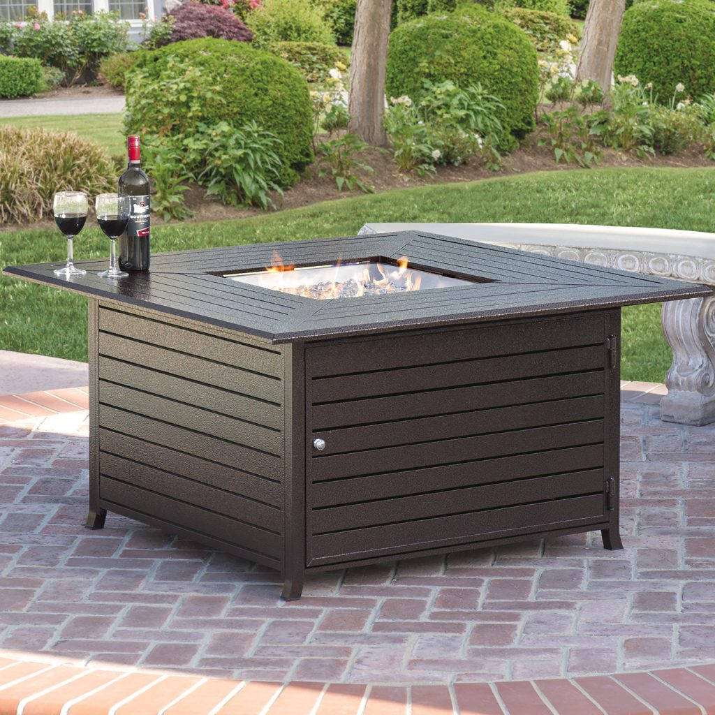 Best Choice Products 45x45in Extruded Aluminum Square Gas Fire Pit