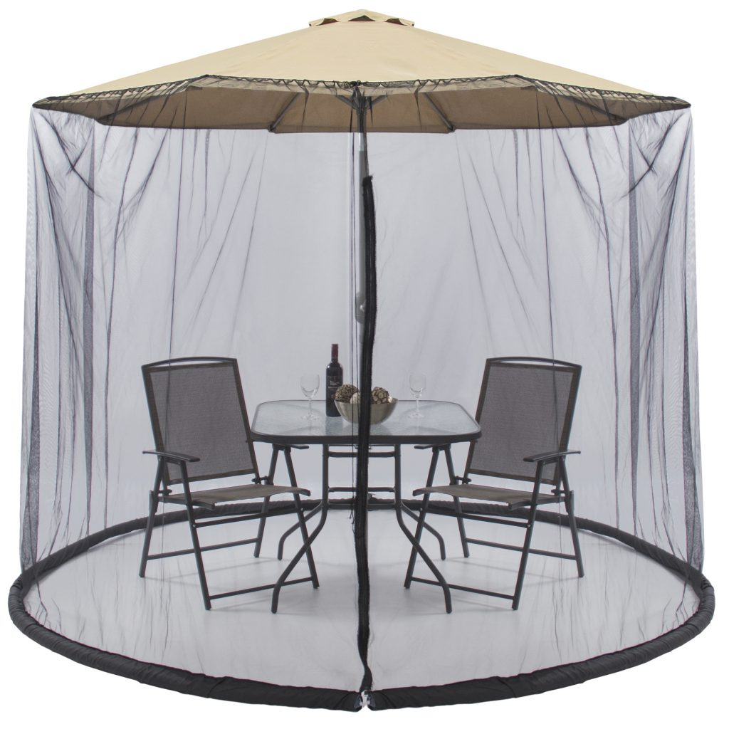 Best Choice Products 9ft Patio Umbrella Bug Screen W Zipper Door