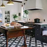Black and White Kitchen Floor Tile