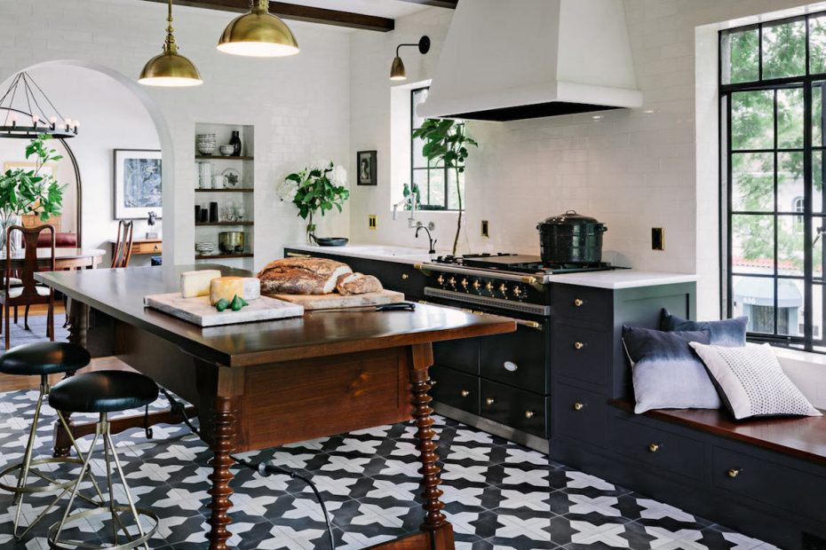 Black And White Kitchen Floor Tile Layjao