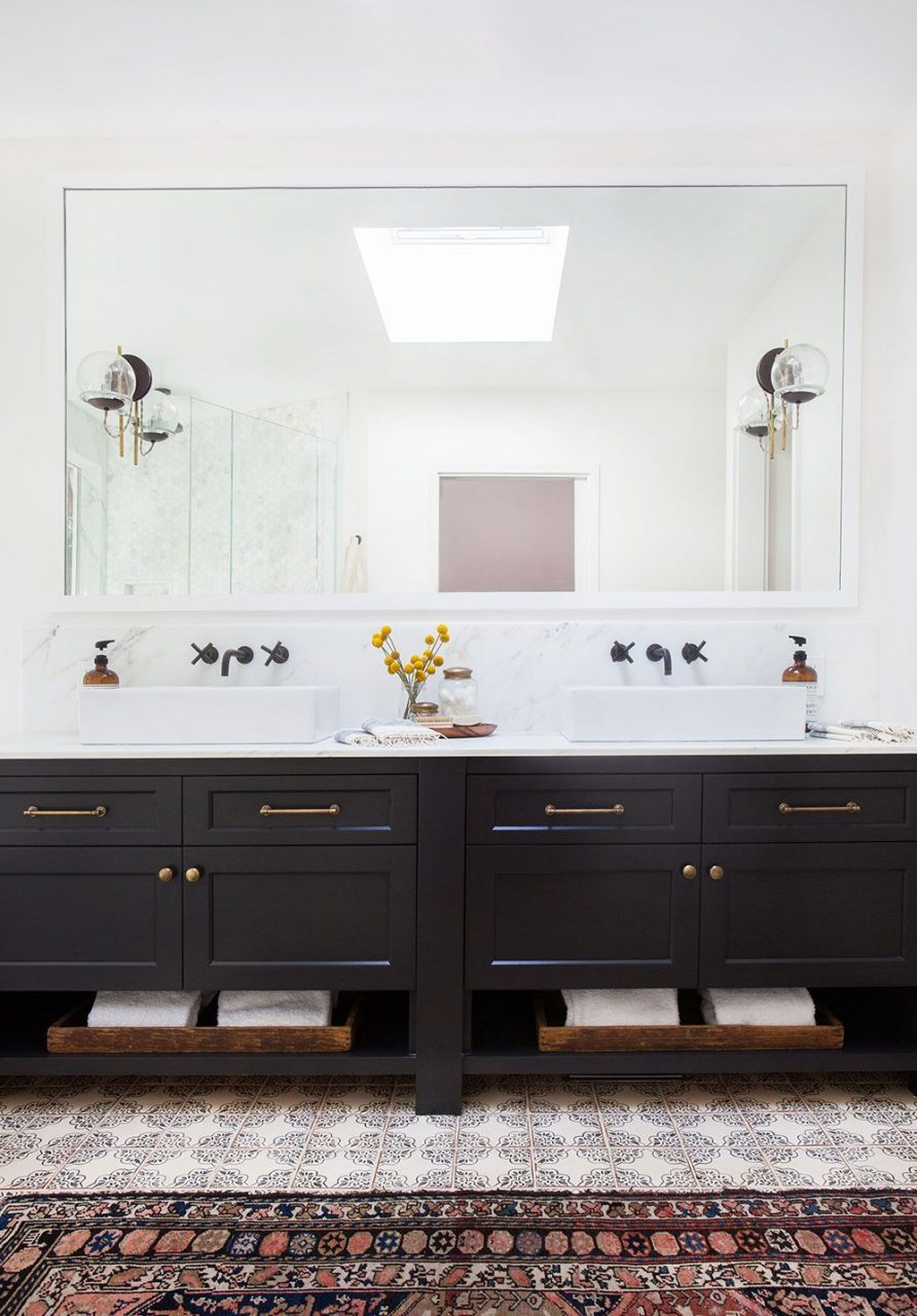 Black Hardware Luxe Interiors Pinterest Bathroom Home And