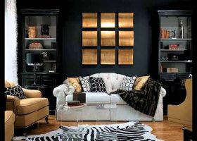 Black and Gold Living Room Design Ideas