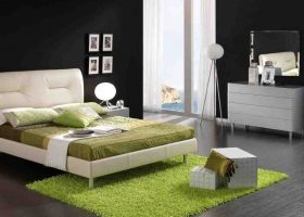 Black White Green Bedroom Ideas