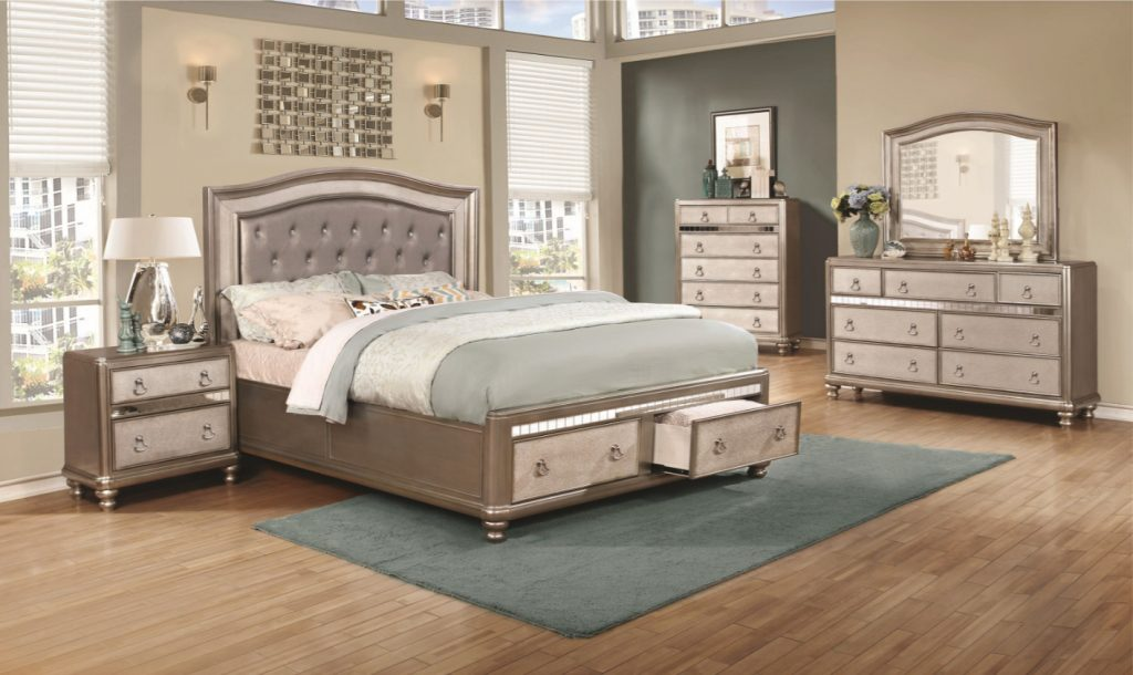 Bling Game 4pc Storage Bedroom Set Furniture Mattress Los Angeles