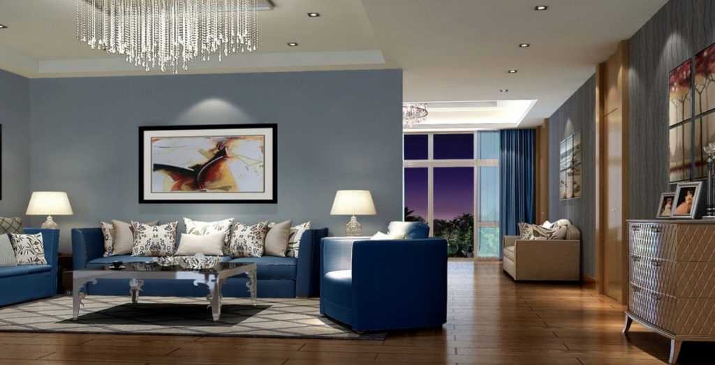 Blue Living Room Decor Modern Blue Living Room Design Ideas