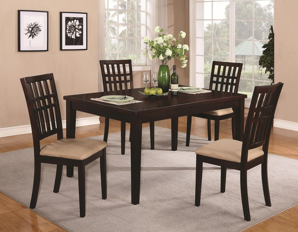 Brandt Dark Cherry Wood Dining Table Set Steal A Sofa Furniture