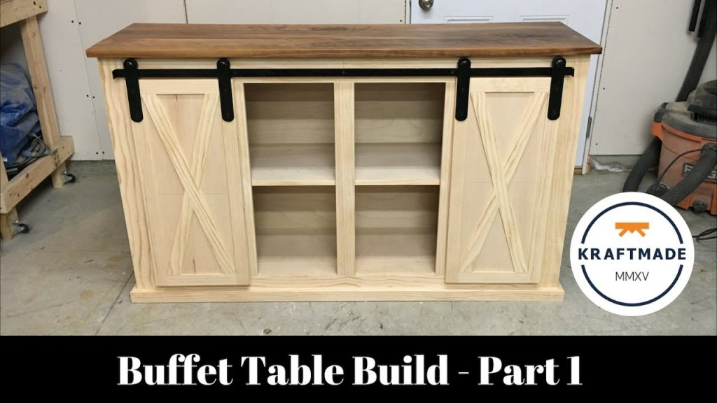 Buffet Table Build Part 1 The Base Cabinet Kraftmade Youtube