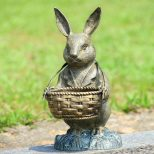 Bunny Rabbit Statue Easter Spring Decor Outdoor Garden Yard Art