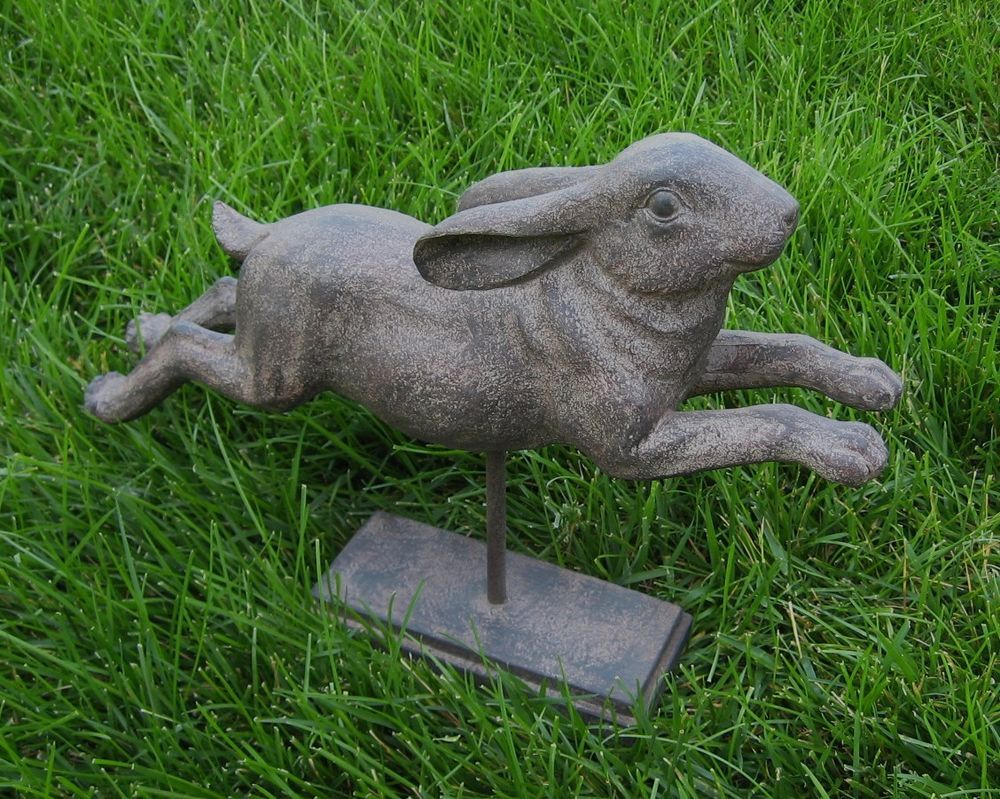 Bunny Rabbit Statueprimitivefrench Countryeaster Decor