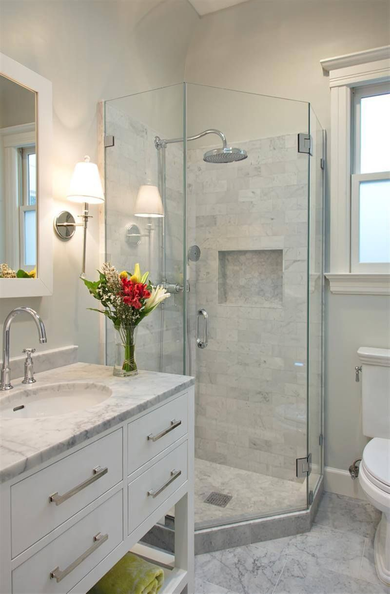 Calming White Marble Small Bathroom Design Ruth In 2019