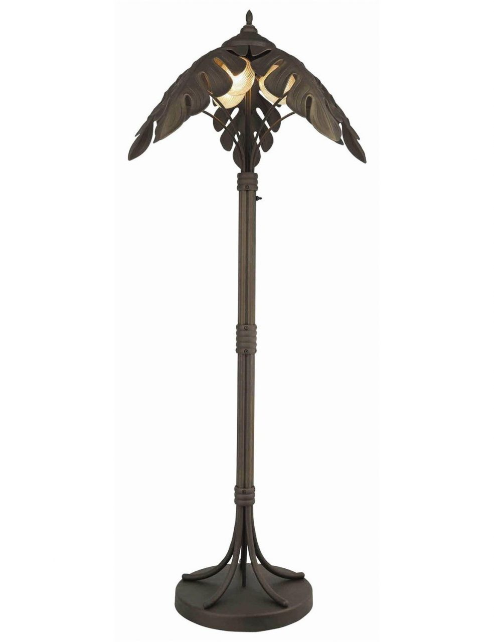 Cast Iron Outdoor Palm Tree Lamp Post Light Floor Lamp Garden