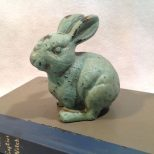 Cast Iron Rustic Bunny Rabbit Animal Lawn Garden Statue Outdoor