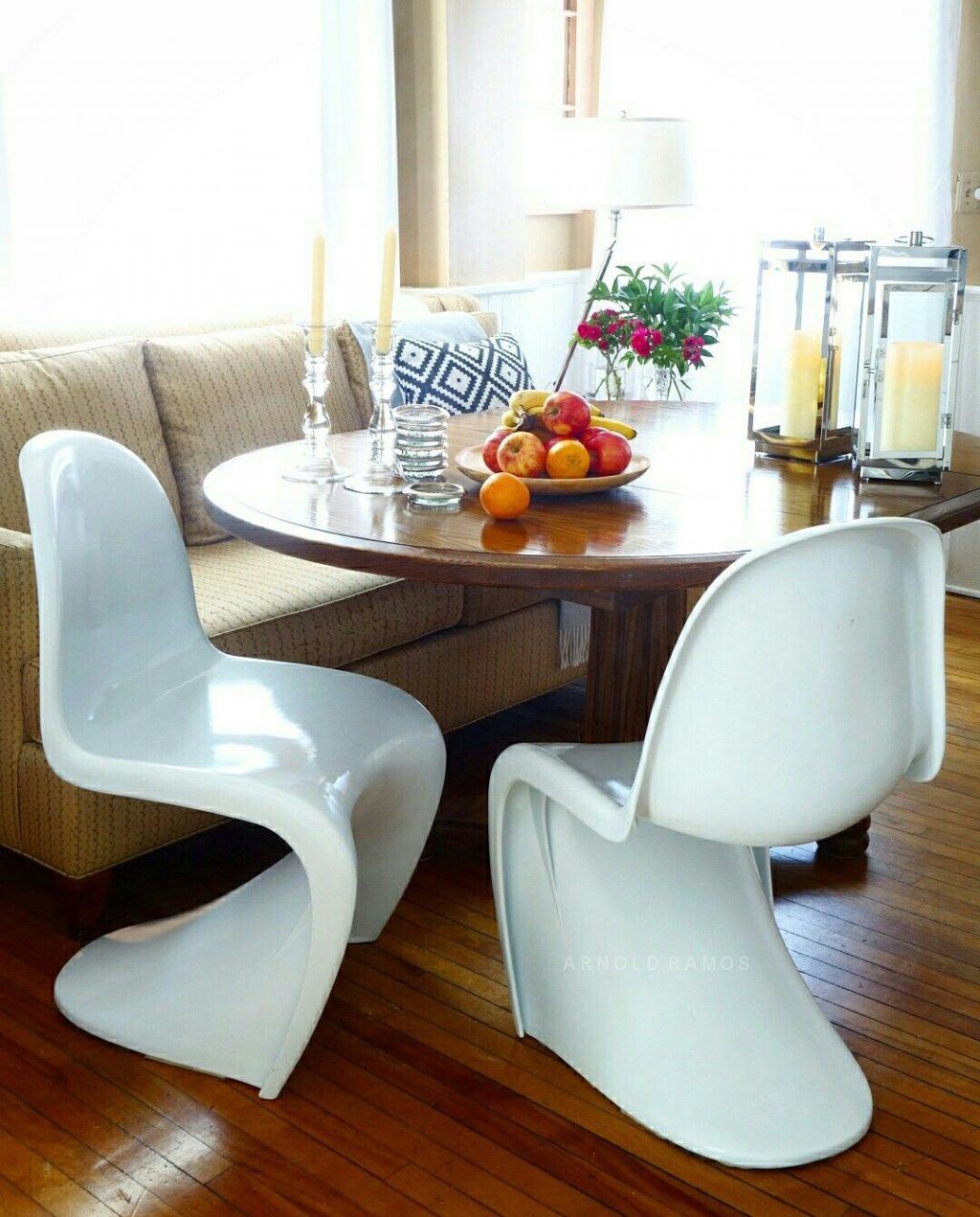 Casual Kitchen Dining Table With Panton Chairs My Project Old