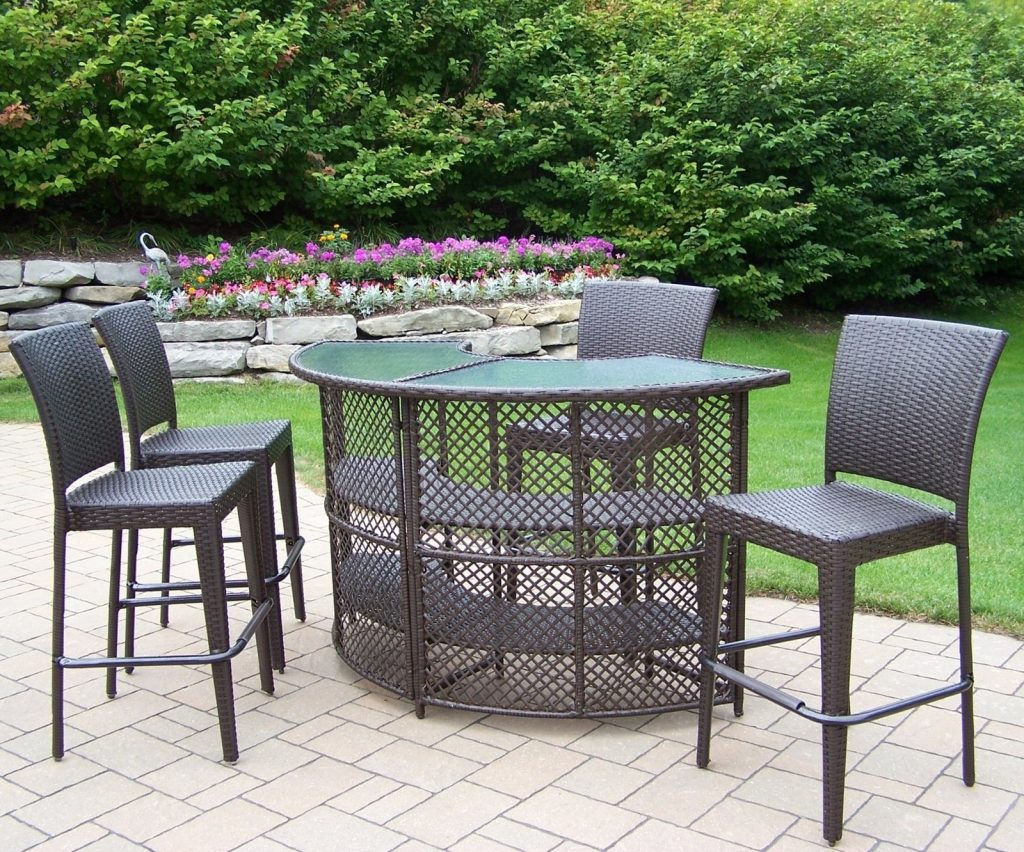 Chair Bar Height Patio Sets Counter Height Outdoor Chairs Triada