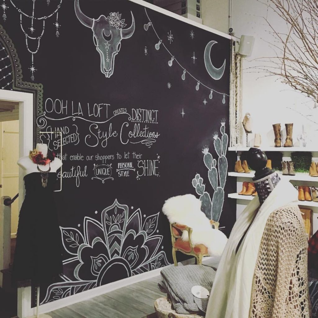 Chalk Wall Window Design Store Display In 2019 Chalk Wall