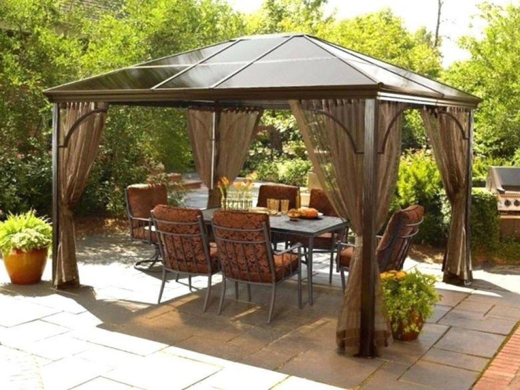 Charm Patio Gazebo Clearance Costco Furniture Sears Etsustore Within