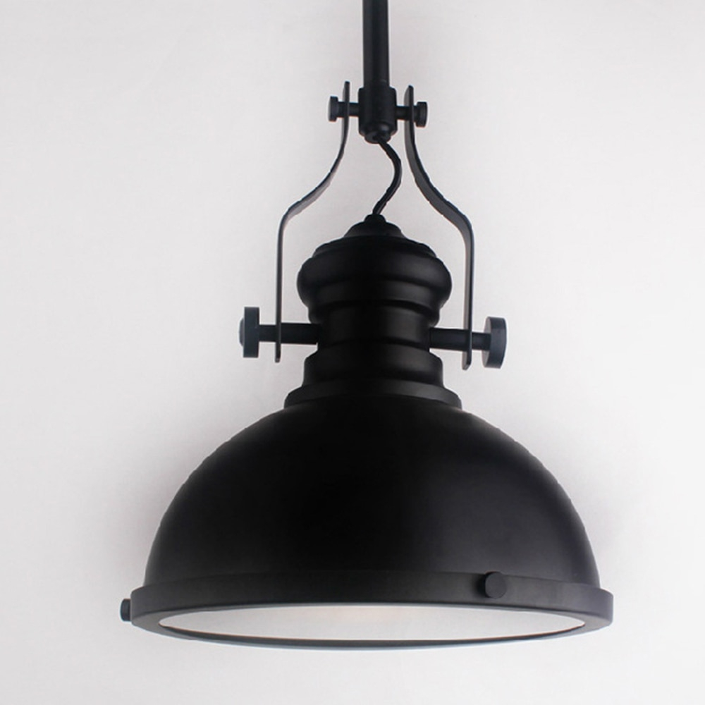 Classic Black Loft America Country Industrial Pendant Light Drop