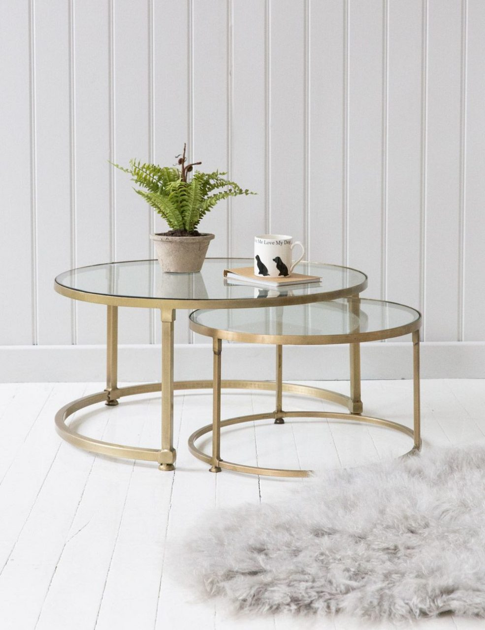Coco Nesting Round Glass Coffee Tables Coffee Tables Pinterest