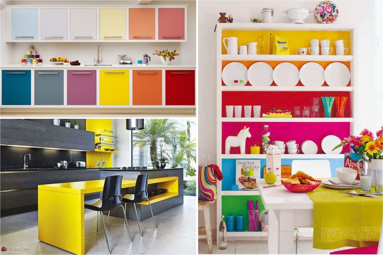 Colorful Kitchen Designs Cool Multi Colored Design Ideas For Your
