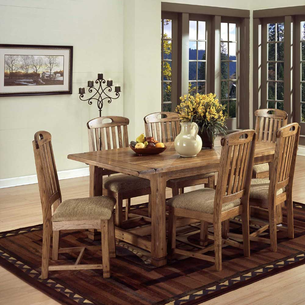 Contemporary Casual Kitchen Dinette Decor With Rectangular Marble