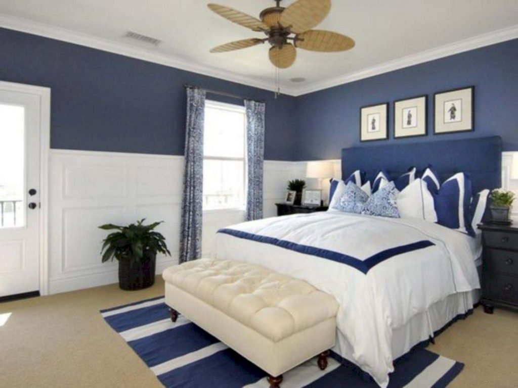 Cool Blue And White Bedroom Design Ideas 09 For The Home