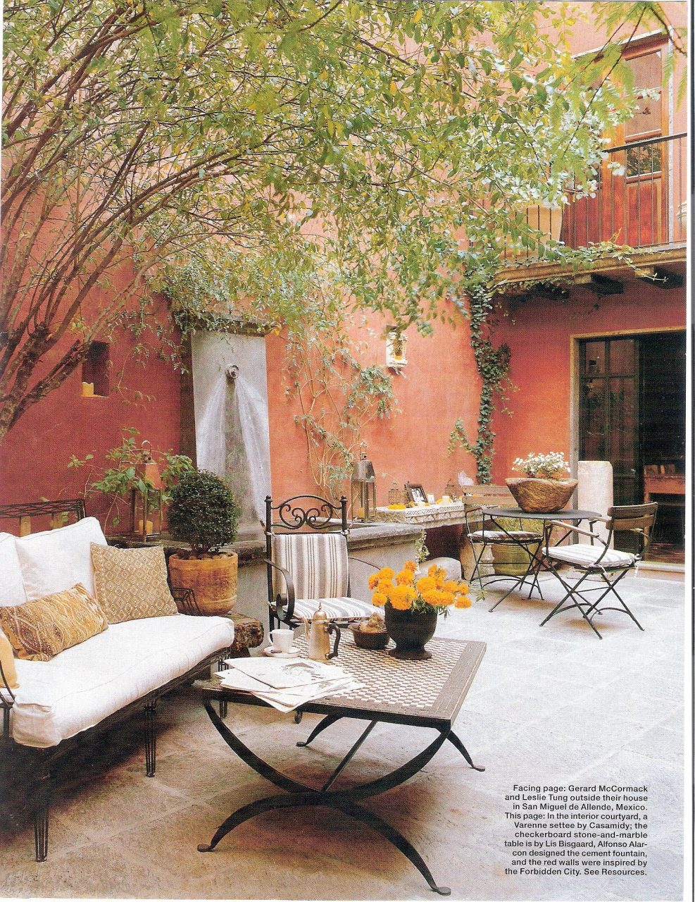 Courtyard Via Old Magazine Clipping Interior Design Ideas In 2018