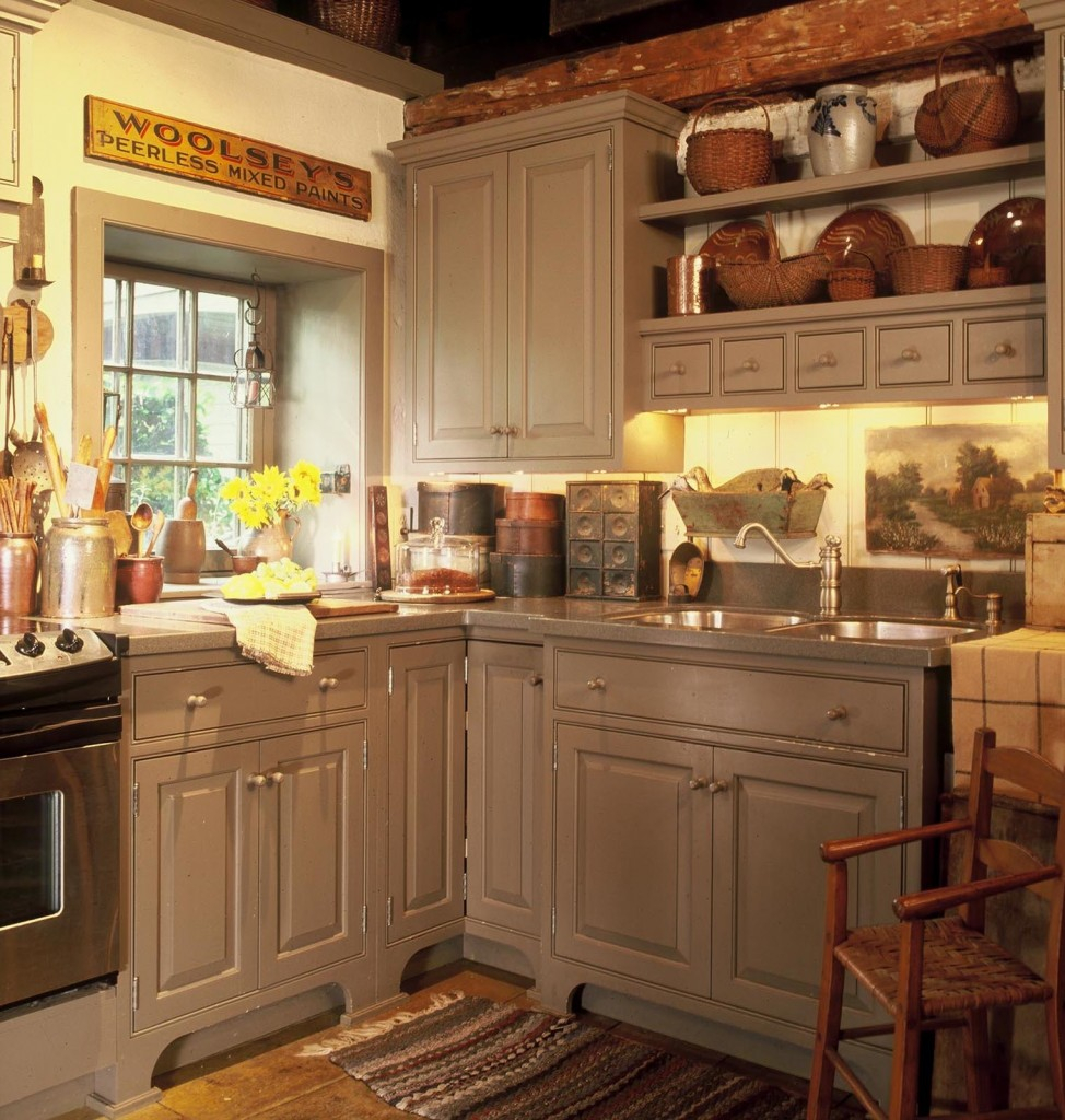 Cozy Rustic Kitchen Fireplace Aliantamedicilor