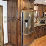 Custom Maple Cabinets Finished In A Walnut Stain And Then A Black