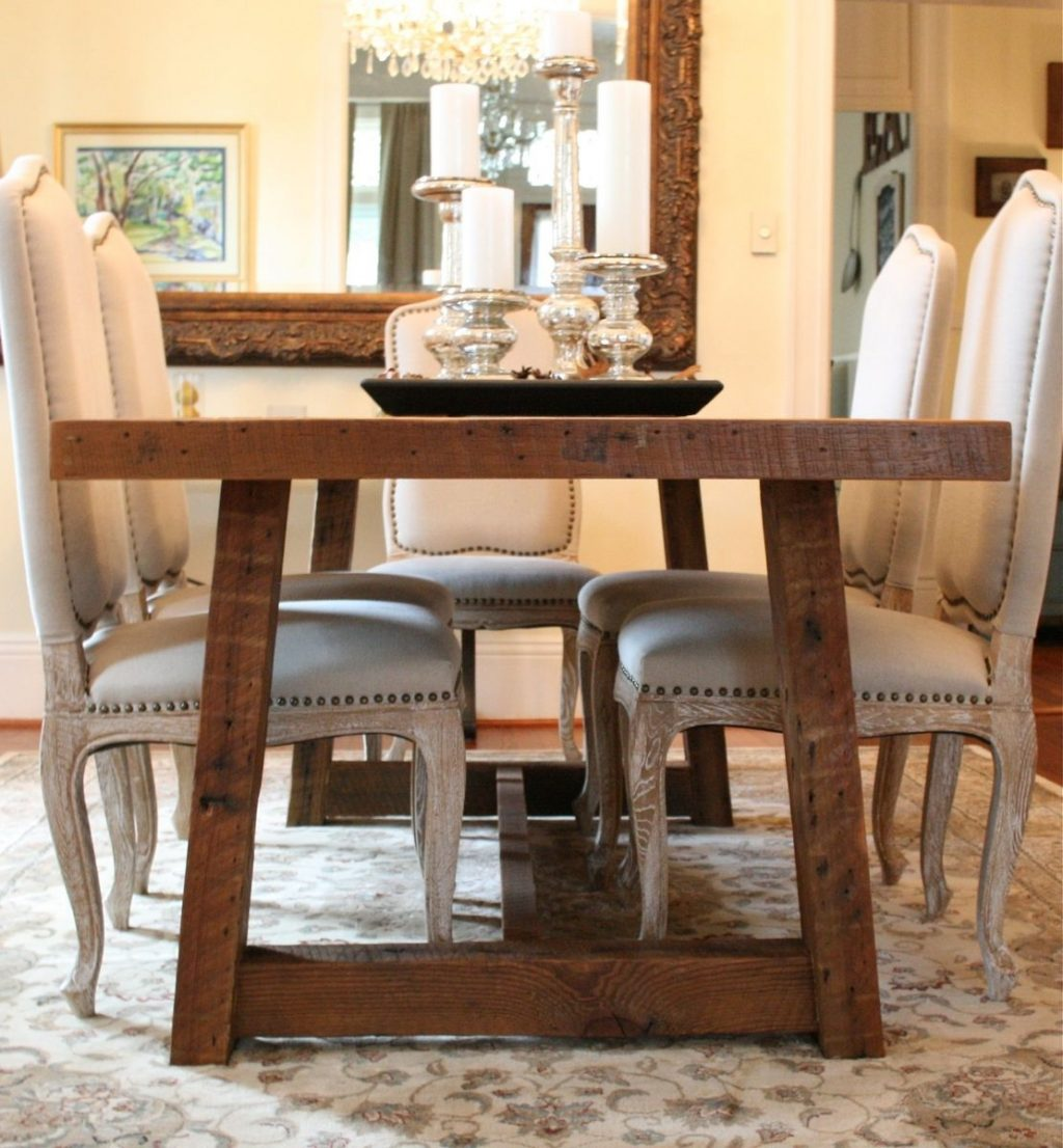 Custom The Pecky Dining Table Farmhouse Style Table Made Reclaimed
