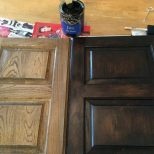 Dark Walnut Gel Stain How Cabis That Are Already Stained Before