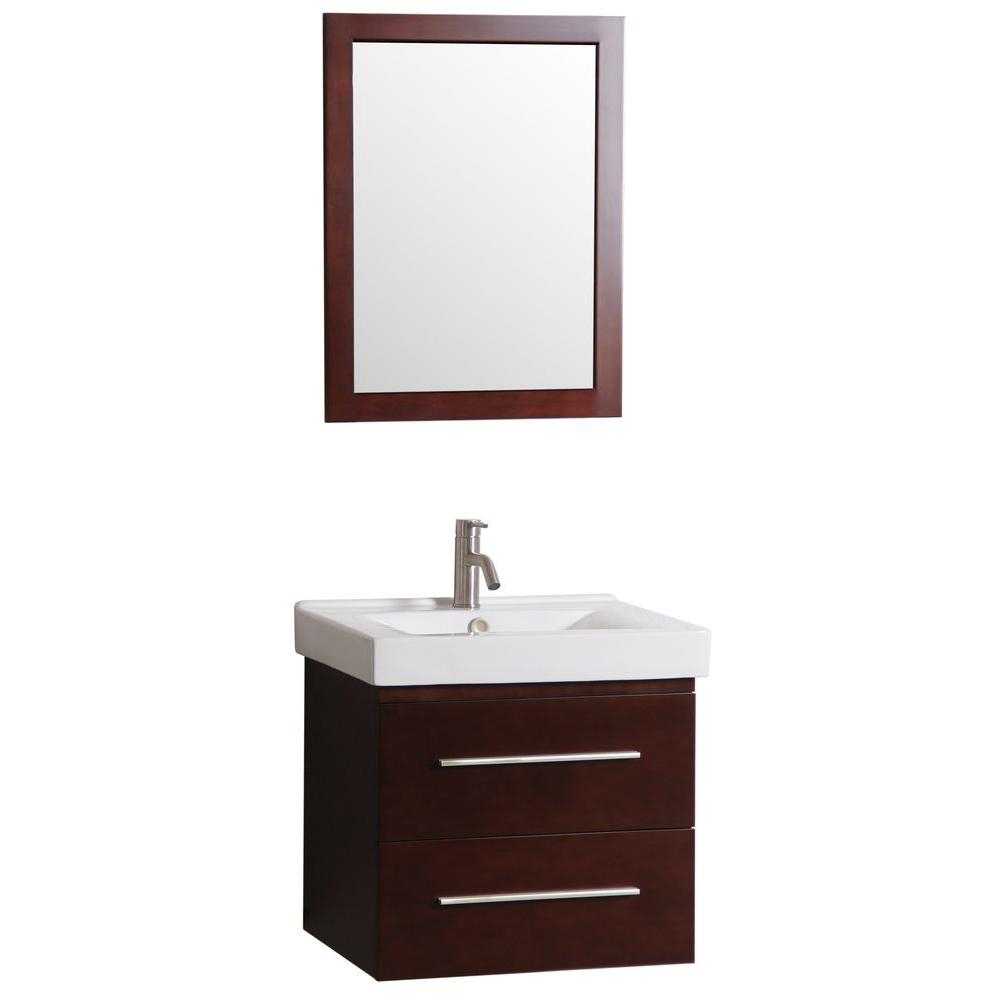 Decor Living 24 In W X 18 In D Floating Bath Vanity With Vanity
