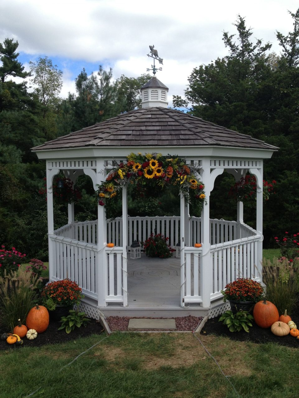 Decorated Gazebo For A Fall Wedding From The Garden Path Wedding