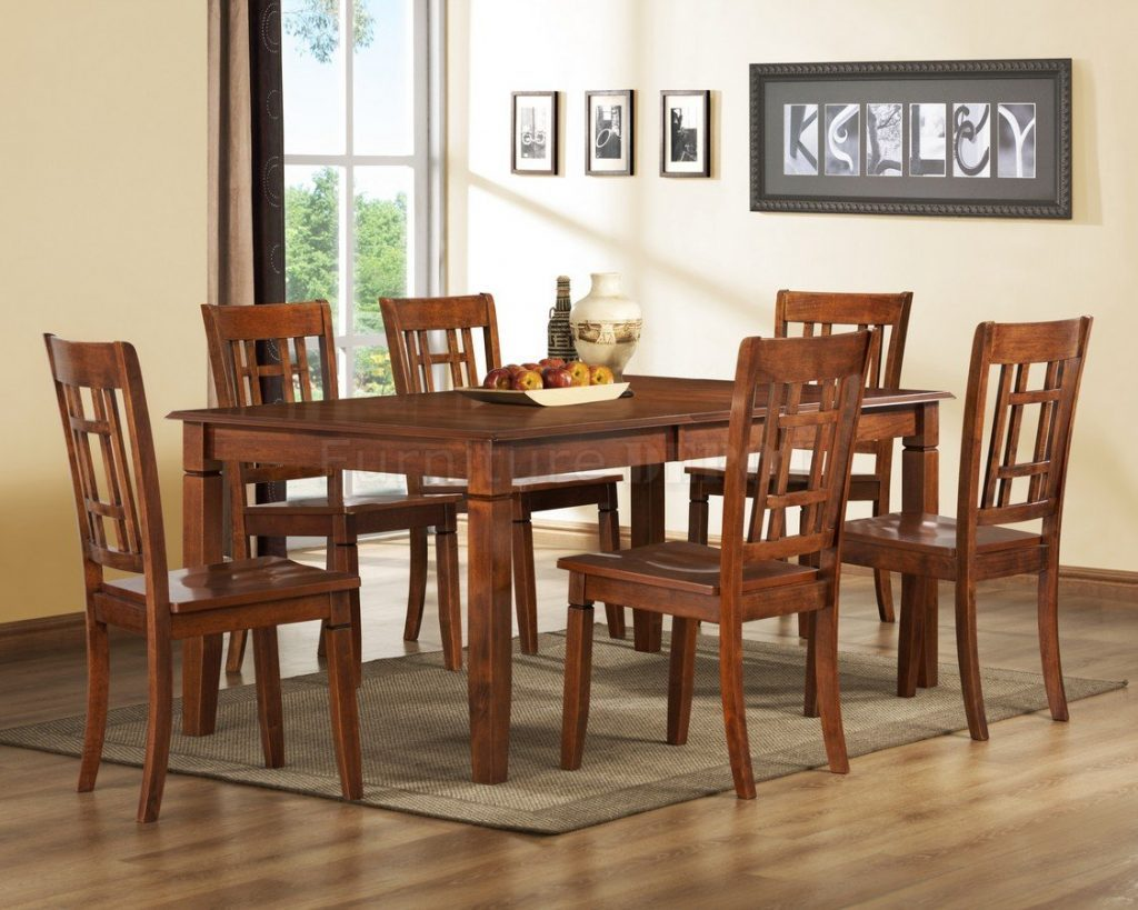 Dining Room Set Dining Table With Bench And Chairs Cherry And