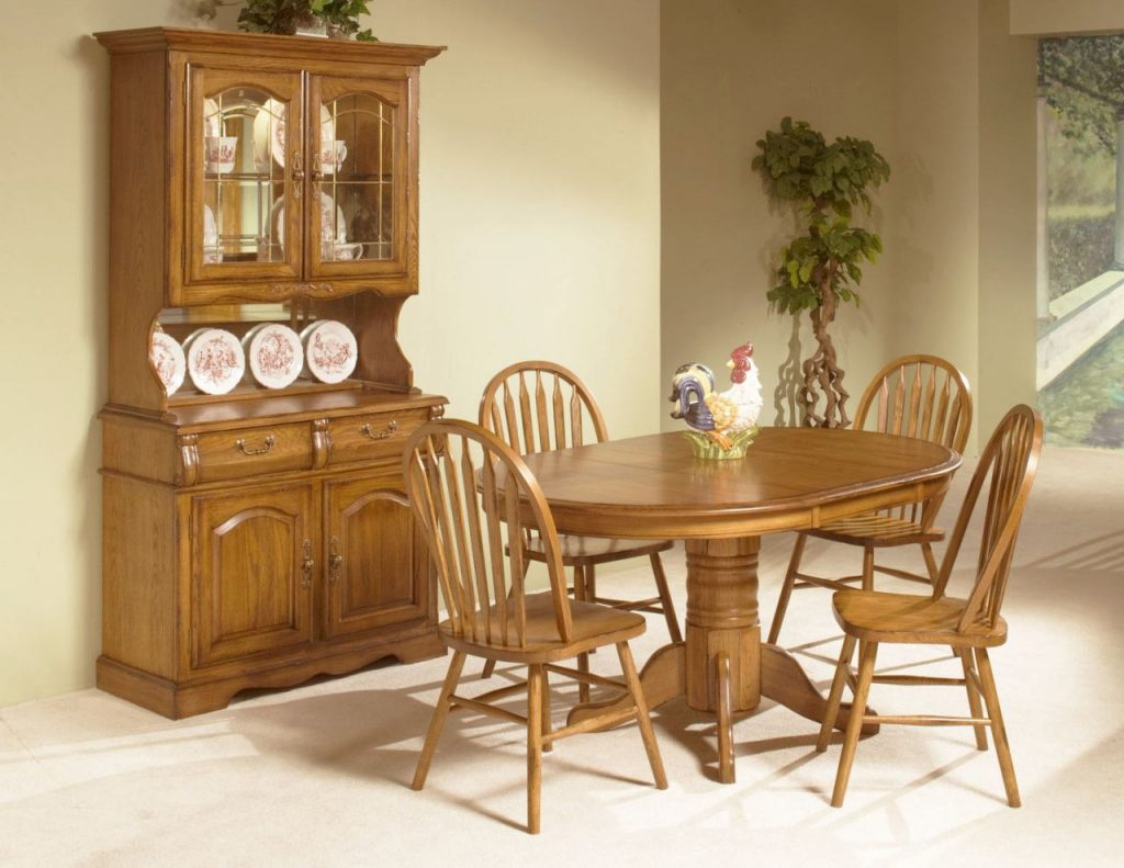 Dining Room Set Farmhouse Dining Chairs Dining Table And Hutch Set