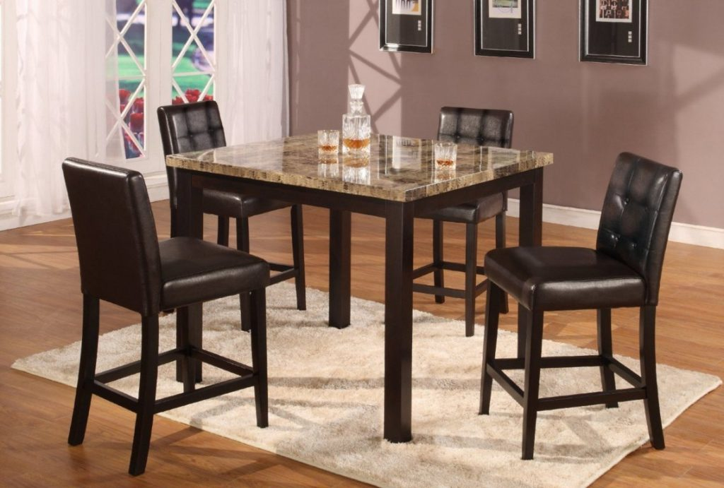 Dining Tables Glamorous Marble Top High Dining Table Faux Marble