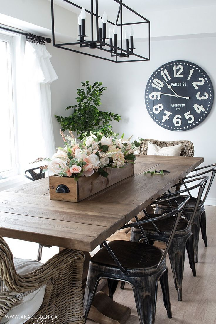 Diy Faux Floral Arrangement Feminine Yet Rustic Crate Dining Room