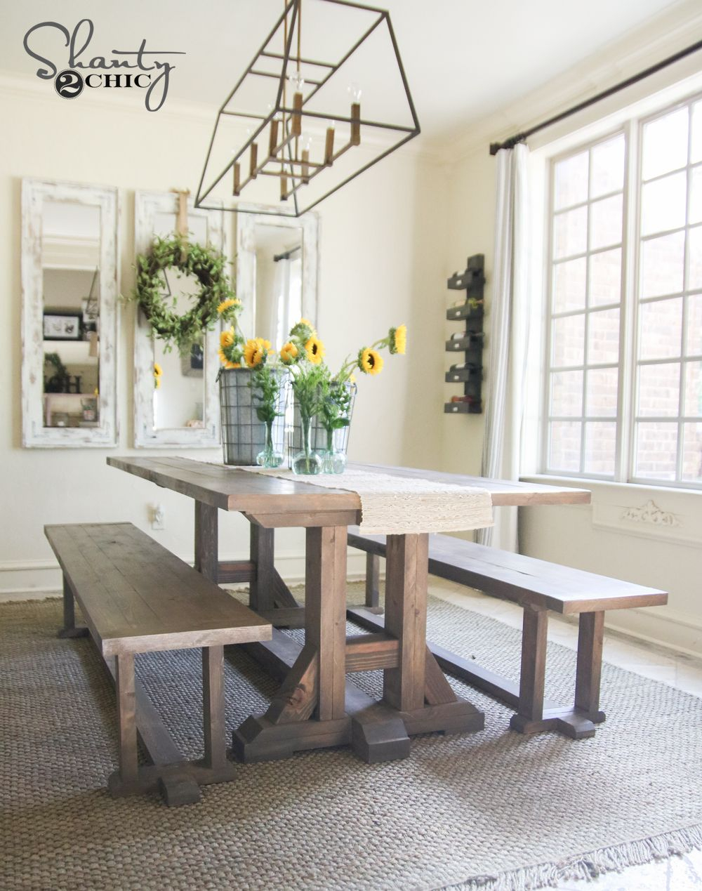 Diy Pottery Barn Inspired Dining Table For 100 Shantys Tutorials