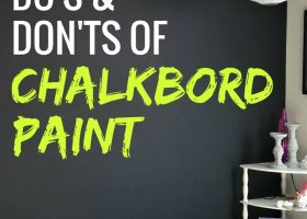 Chalkboard Paint Wall in Bedroom