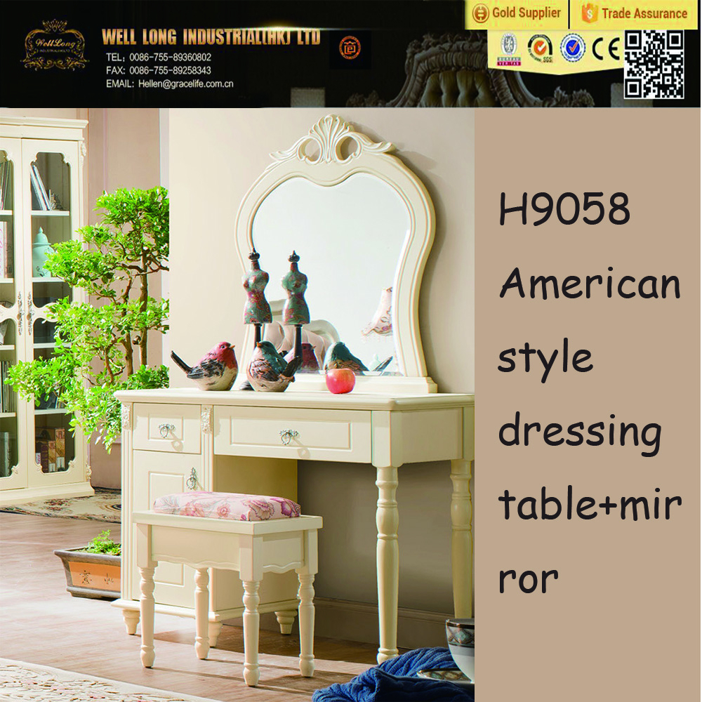 Dressing Table American Style White Wooden Dressers Bedroom