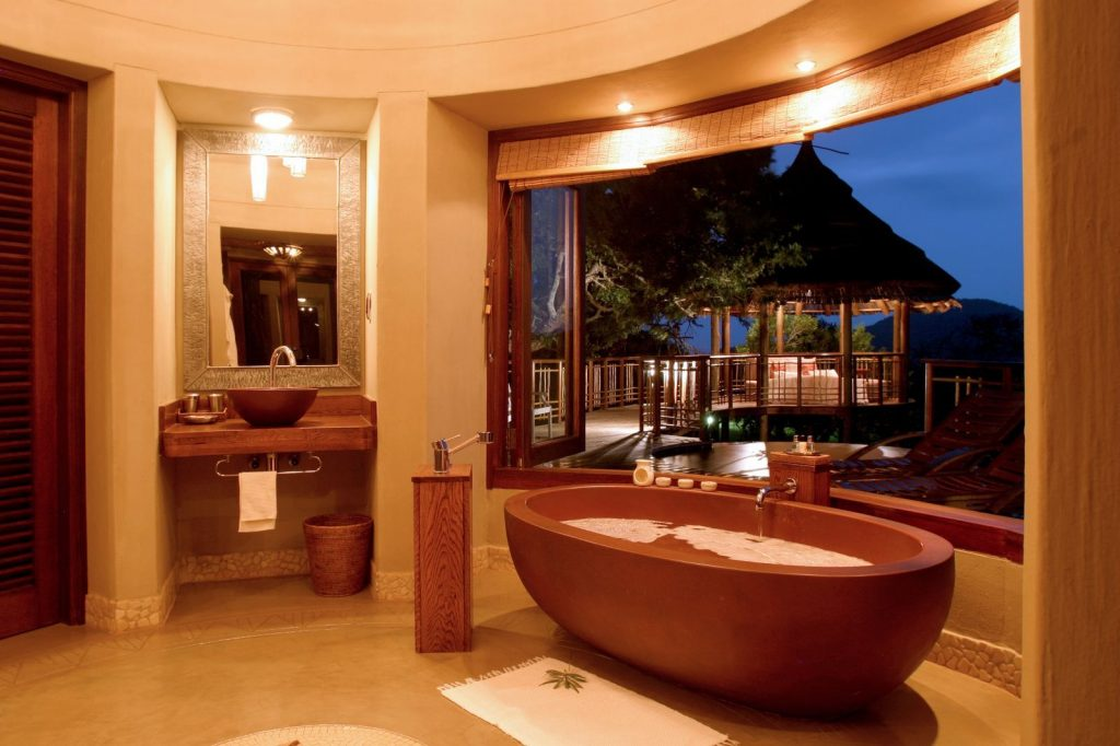 Earth Tones Bathroom Exotic Earth Tone Luxury Bathroom Design With