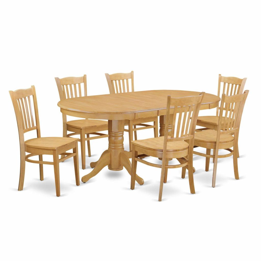 East West Furniture Vancouver 7 Piece Dining Table Set Table With