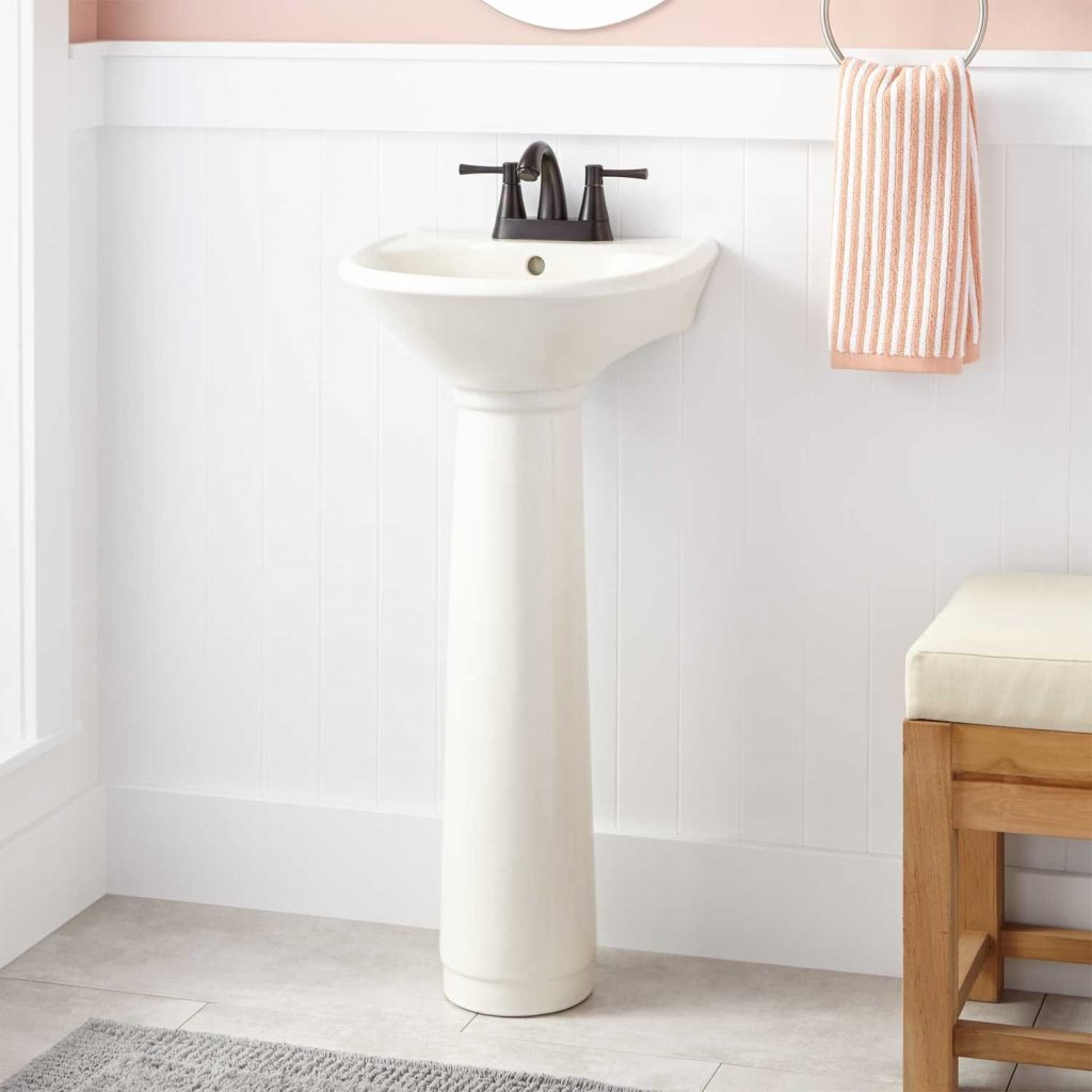 Farnham Porcelain Mini Pedestal Sink Bathroom Sinks Bathroom