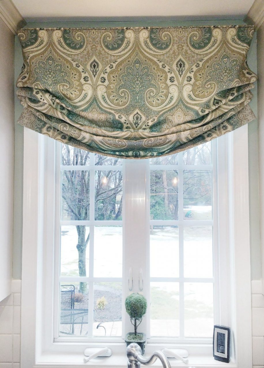 Faux Roman Shade Valance Custom Window Treatment Relaxed Style