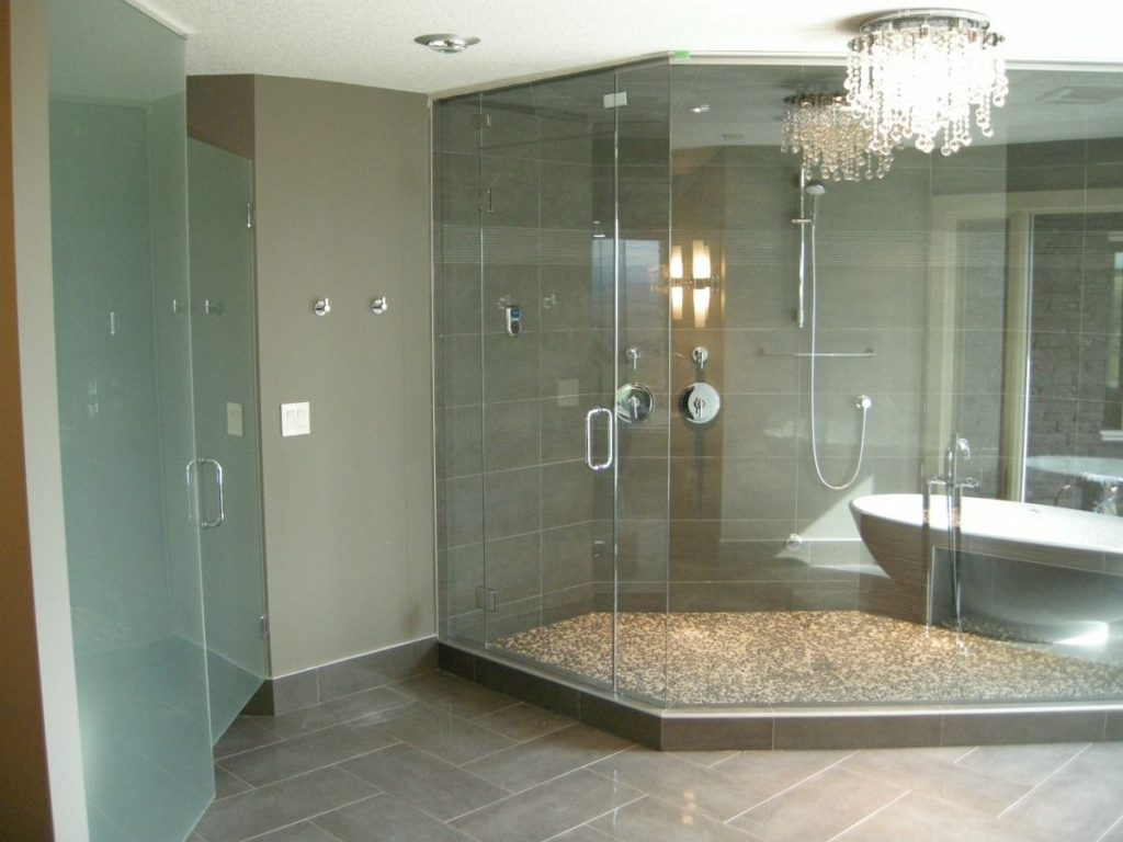Frameless Glass Steam Shower And Water Closet Door House Of